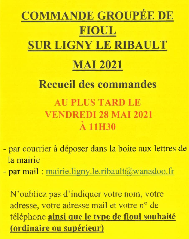 Commande fioul 28 05 2021