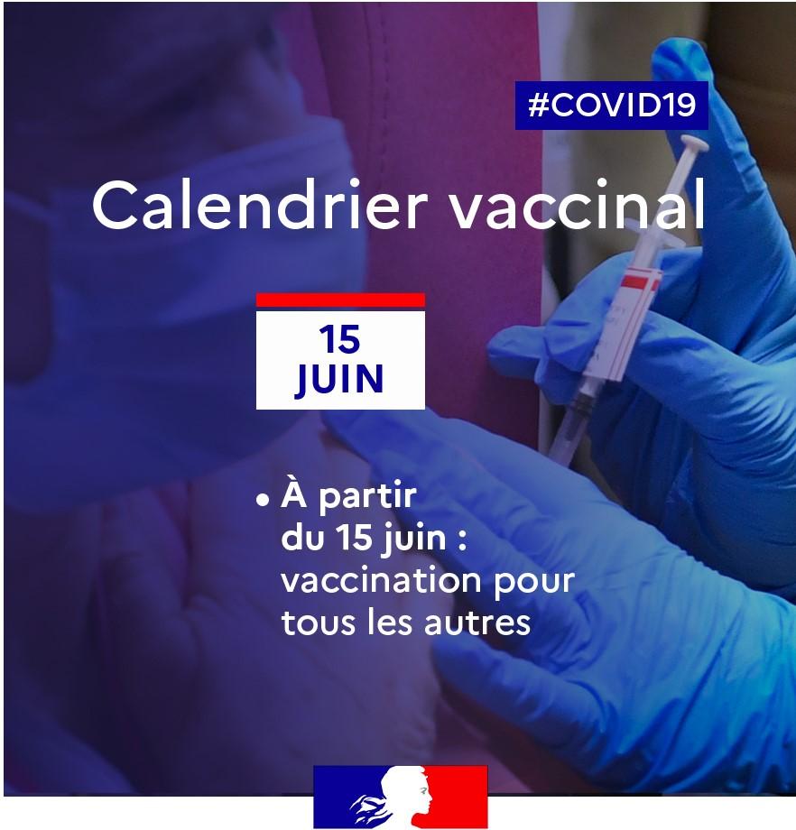 Vaccin 15 juin tous