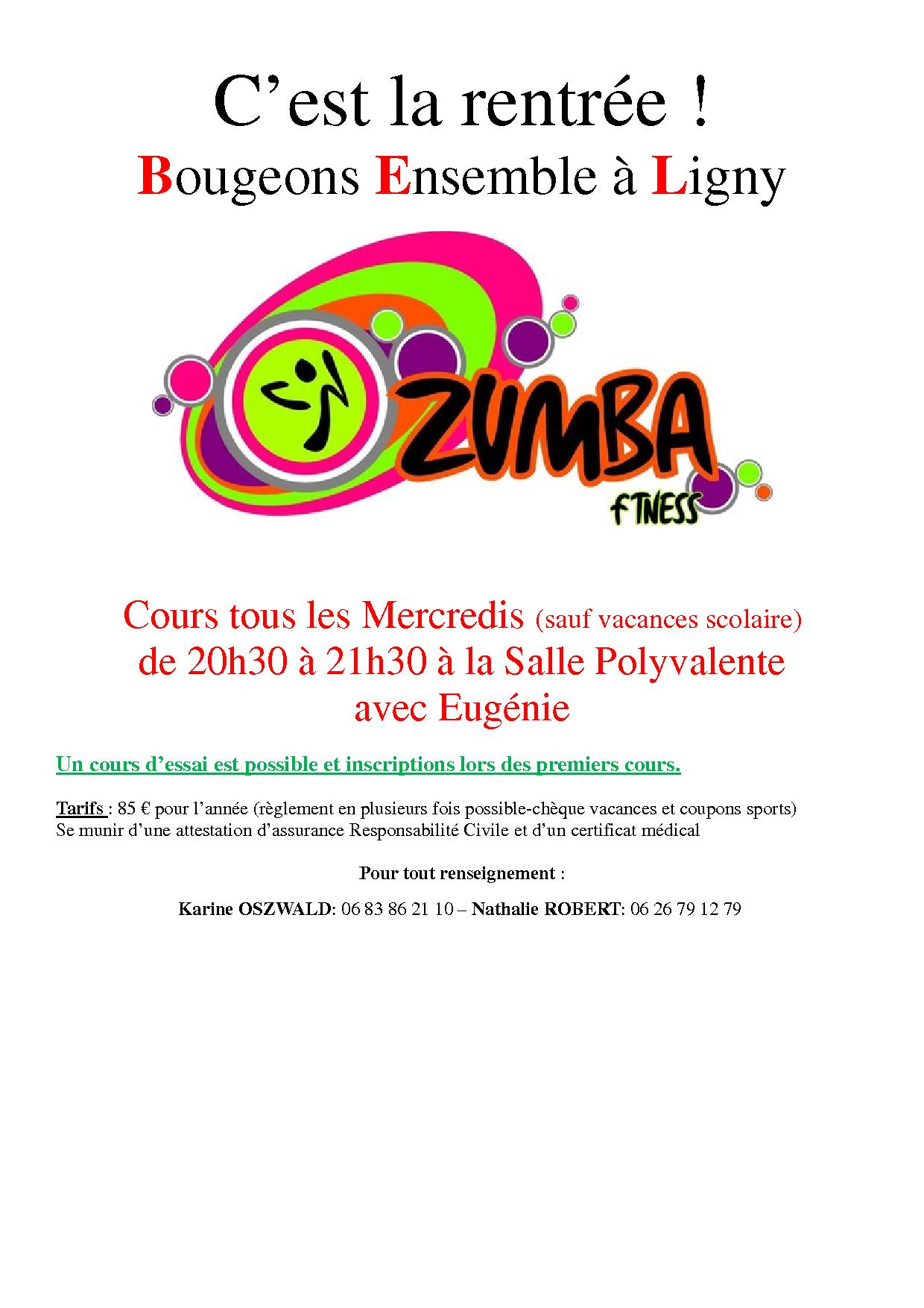 Affiche cours zumba