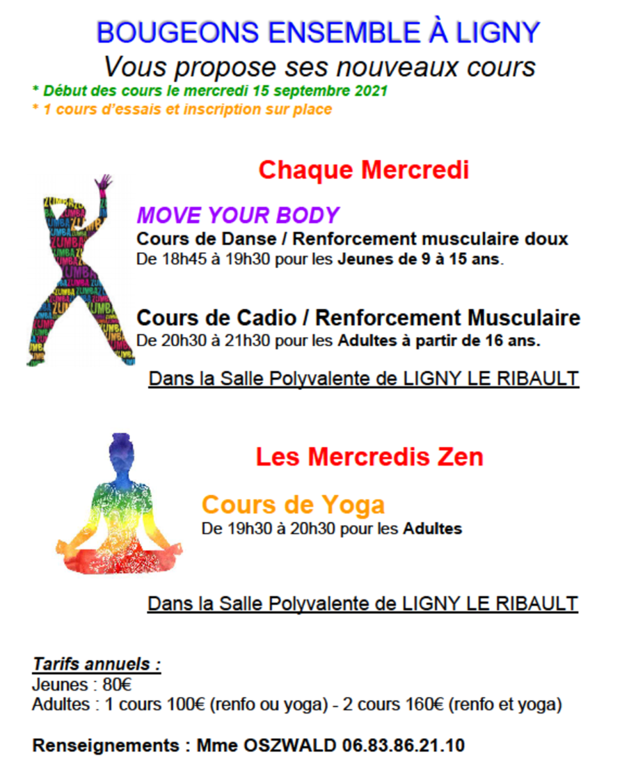 Cours zumba reprise 15 09