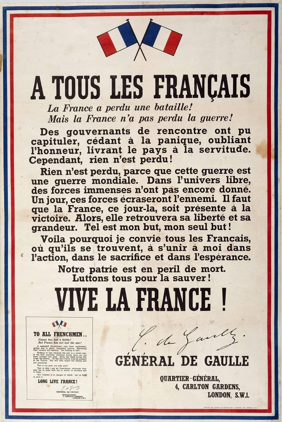 Appel 18 juin 1940
